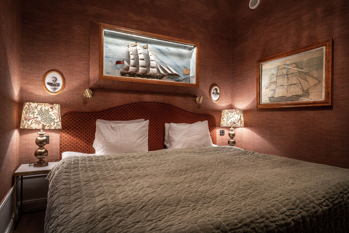 Captain's Grand Cabin | Victory Hotel, Gamla Stan, Stockholm, Sweden.