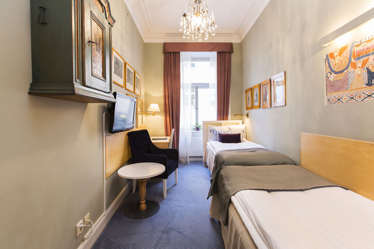 Compact Twin Room | Lady Hamilton, Gamla Stan, Stockholm, Sweden.